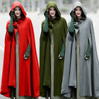 NEW Women Casual Loose Long Cape Cloak Hooded Coat Outwear Medieval Robe Costume