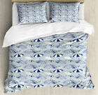 Umbrella Duvet Cover Set with Pillow Shams Artistic Canopies Print image