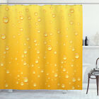 Yellow Shower Curtain Ombre like Beer Glass Print for Bathroom
