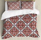 Floral Duvet Cover Set with Pillow Shams Persian Oriental Classic Print image
