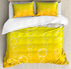 Abstract Duvet Cover Set with Pillow Shams Bubbles Beer Macro Print