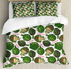 Artichoke Duvet Cover Set with Pillow Shams Super Food Organic Print image