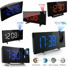 Digital LED Alarm Clock Projection SNOOZE Timer FM Radio Ceiling USB Dual Alarm