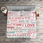 Love Quilted Coverlet & Pillow Shams Set, Emotional Messages Art Print image