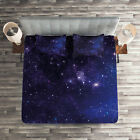 Galaxy Quilted Coverlet & Pillow Shams Set, Inspiring Starway View Print image