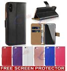 Case for iPhone 5S 5 SE Cover Real Genuine Leather Flip Wallet <br/> *** FREE SCREEN PROTECTOR *** 24 HOURS PROMOTION ***