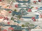 Vintage Sakai Natural Japanese Toile Type Cotton 280cm Wide Curtain Fabric