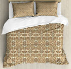 Paisley Duvet Cover Set with Pillow Shams Persian Teardrop Shape Print image