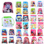 Boys Girls Children Drawstring Backpack PE Cartoon Swimming Party Bag Beach Bag image