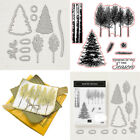 Внешний вид - Xmas Trees Cutting dies& Stamp Seal Stencil Handmade Gift Card Scrapbook Album