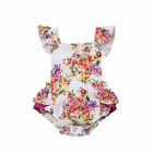 Little-Big Sister Matching Clothes Kids Baby Girl Floral Romper Dress Outfits US