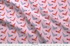 Origami Paper Dinosaur Pink Geometric Toy Fabric Printed by Spoonflower BTY