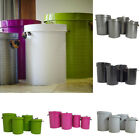 Zinc Pleated Bin/ Metal/ Storage Container/ recycling /Laundry Bin