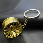 Men Cool Metal Keychain Car Wheel Key Chain Luxury Pendant Keyring 3 Color
