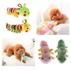 Cute Caterpillar Dog Squeaky and Plush Toy for Big Medium Small Dogs Chewing