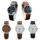 Men Stainless Steel Wristwatch Leather strap Automatic Mechanical DG image