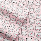NEW! Cuddl Duds TWIN Flannel Sheet Sets Pink Cats Twin Sheet Set image