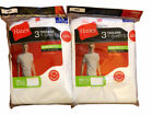 Hanes T Shirt Undershirt 3 Pack ComfortSoft Tagless Mens S-3XL White