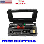 HS-1115K 10in1 Butane Gas Soldering Iron Stand Welding Kit Blow Torch Tool US