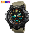 Women Military Sports Digital Analog Watch Alarm LED Waterproof Army Rubber Band image