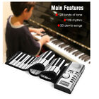 Portable Roll Up Electronic Piano 61 Keys Soft Pianolite MIDI Foldable Flexible