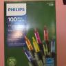 100 Philips 7 Color Multi Mini Lights Green Wire 24.7ft  Energy Save