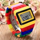 Watch For Kids Boys Electronic Colorful LED Rainbow Digital Watches Wrist Lego image