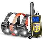 1/2/3 Dog Shock Training Rechargeable Collar With Remote IP67 For Large 880 Yard
