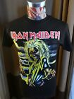 BRAND NEW IRON MAIDEN KILLERS CLASSIC YELLOW EDDIE BLOODY AX BLACK ROCK T SHIRT image