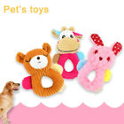 Pet Dog Molar Squeaky Sound Toy Cartoon Cleaning Tooth Plush Bite Doll Flowery