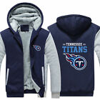 Tennessee Titans Fans Hoodie Fleece zip up Coat winter Jacket warm Sweatshirt $38.99 USD on eBay