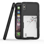 For iPhone X Case Shockproof Hard Protective Case Cover, Back Screen Protector