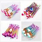 2018 Eye Makeup Brushes Mermaid Fishtail Eyeshadow Contour Foundation Brush Set