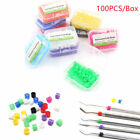 100 Pcs Dental Orthodontic Silicone Instrument Code Rings 10 Colors For Choose