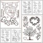 Letters Bear Toys Silicone Stamp Rubber Seal Transparent Scrapbook Album 5x6.5in