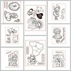 Lovely Designs Silicone Stamp Rubber Seal Transparent Clear Embossing Decor DIY