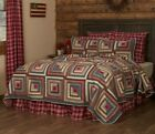 BRAXTON QUILT SET-choose size & accessories-Log Cabin Block Primitive VHC Brands image