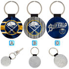 Buffalo Sabres Sporty Leather Glitter Key Chain Car Keyring Ring $3.99 USD on eBay