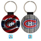 Montreal Canadiens Sporty Leather Glitter Key Chain Car Keyring Ring $3.99 USD on eBay