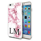 Personalised Marble Phone Case Cover for Apple Samsung Initial Text Name - K39
