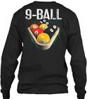 Pool Billiards 9 Ball 2xl Black - Gildan Long Sleeve Tee T-Shirt $22.99 USD on eBay