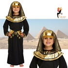 Boys Egyptian Pharaoh Fancy Dress Black Costume Outfit Kids School Book Week