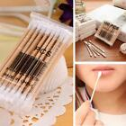 Double Head Cotton Swabs Applicator Wooden Stick Makeup Machine Cleaning OK 01