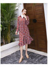 Women's fashion floral dress KREDM485#