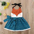 NEW Girls Fox Sleeveless Blue Dress 2T 3T 4T 5T 6