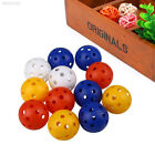 02F1 50pcs Hollow -Practice Golf Balls Golf Wiffle Balls Air Flow Practice 4CM