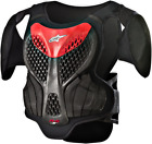 Alpinestars Youth A-5 Roost Guard Chest Protector BLACK RED SHIPS FREE