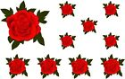 Painted Rose Flower Stickers Decals Graphics Nursery Wall  Decoration Art Home