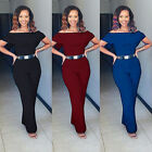 Plus Size Women's Casual Off Shoulder Jumpsuit Rompers Clubwear Bodycon Trousers
