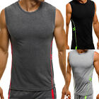 Mens Muscle Sleeveless Sports Gym T Shirt Tank Top Vest Casual Fitness Tops Tee image